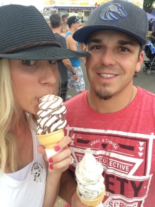 Indulging in the awesome fair food!
